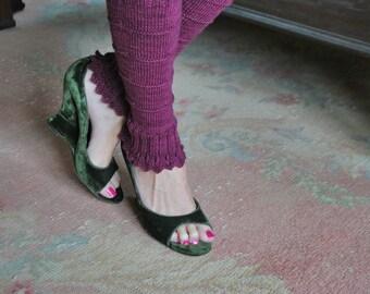 legwarmer knitting pattern PDF sleek Lotus Legwarmers