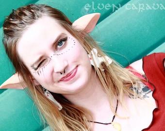 Custom Painted Faun Satyr Saga Elf Ear for Costumes and Cosplay