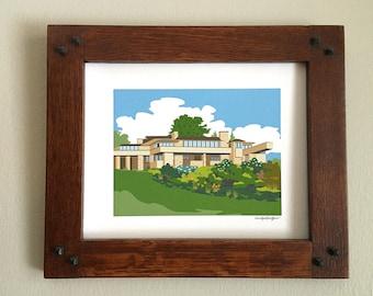 Taliesin,Spring Green, Wisconsin, Frank Lloyd Wright, 8x10 print