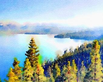 Lake Tahoe, 2012 - 4x6, 5x5, 5x7, or 6x9 digital art piece