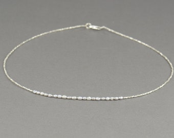 Sterling silver and grey pearls necklace