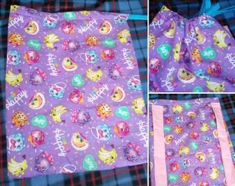 Shopkins Kids Drawstring Color Me Happy Bag/Backpack
