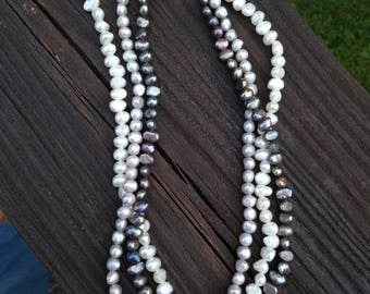 natural fresh water pearl necklace