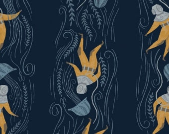 PRESALE - Aweigh North - Deep Sea Diver in Navy -  Rae Ritchie for Dear Stella - ST-SRR1056NA - Half Yard