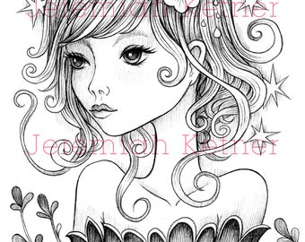 Walking With You - Digital Coloring Page