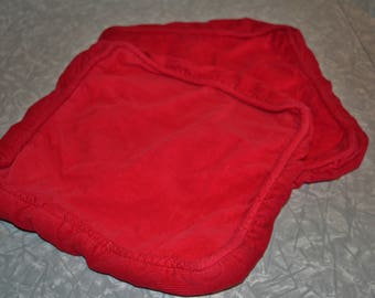 Vintage Red Pillow Covers ~ Mid Century Throw Pillows ~ Corduroy Pillows