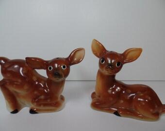 Vintage  Deer Salt & Pepper Shaker Set - Deer - Salt And Pepper - Vintage - Kitchen - Japan - Ceramic - Gift - Gift For Her - Gift For Him