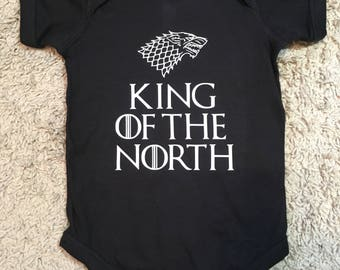 King of the NORTH Onesie game of thrones