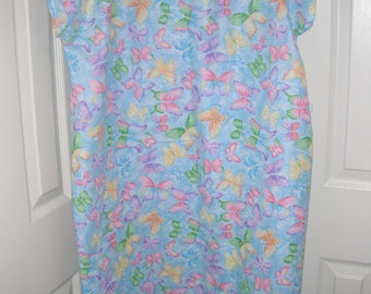 Sparkle butterfly print cotton hospital gown