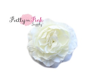 Large CREAM Ruffle Ranunculus Flowers- You Choose Quantity- DIY Headband Supplies- Flower- Wholesale- By the Piece- Supply Shop