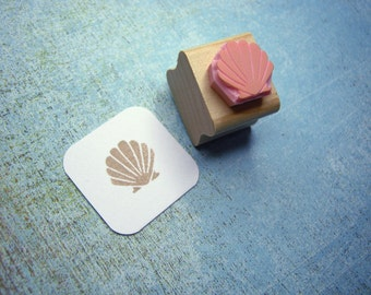 Mini Clam Shell Rubber Stamp - Nautical Wedding - Beach Wedding  - Shell Stamper - Beach Gift - Shell Gift - Mermaid Gift