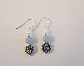 Aquamarine earrings Navy