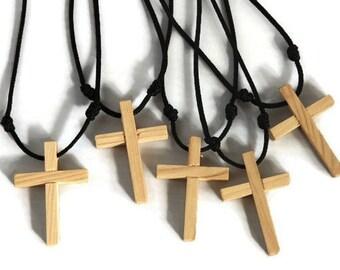 Wood Cross Necklace, Cross Necklace, Simple Cross Necklace, Minimalist Cross Necklace, Wood Cross, Wooden Cross, Cross Jewelry