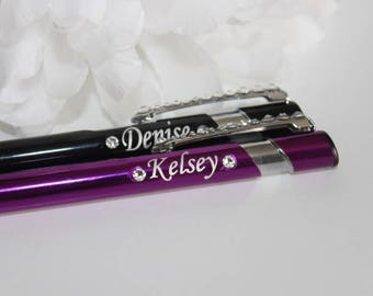 Personalised Pen with Swarovski Gems