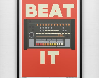 Beat It Roland TR 808 Drum Machine Electro Hip Hop Retro Music Instrument Synth Synthesizer ALL SIZES