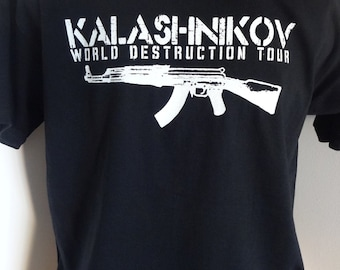 Kalashnikov T-SHIRT AK 47 Revolution Military War Batlle