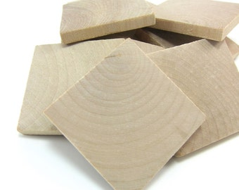 "2"" Unfinished Wooden Square Tiles (50mm)"