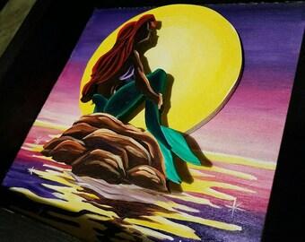 Little mermaid shadow box