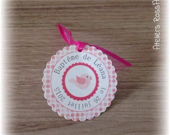 10 baptism or mark up bird - name date and color customizable labels