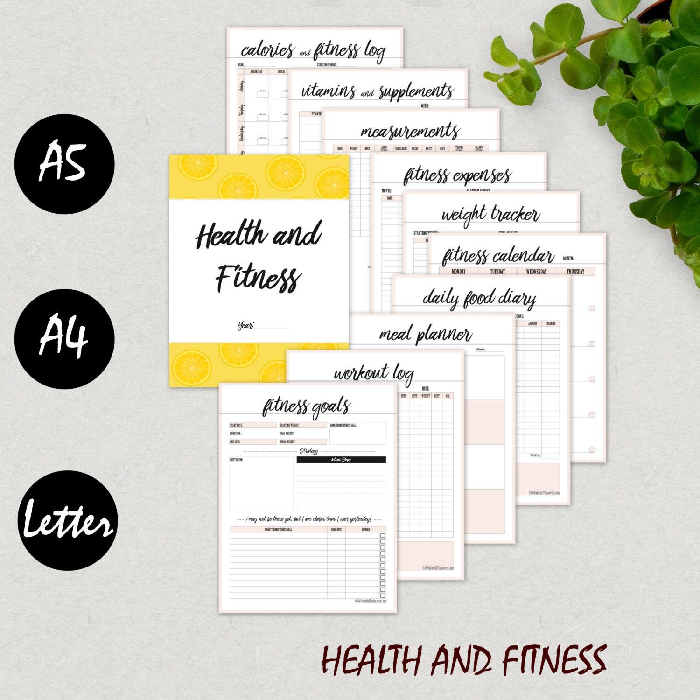 Fitness planificador diario de Fitness salud planificador