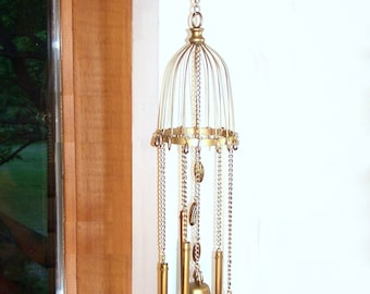 WIND CHIME Golden Bell Chime Mobile Window  Kitchen Living Dining Room Deck Porch Patio Garden
