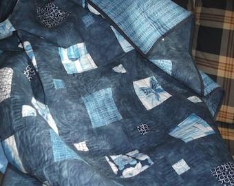 navy blue iap quilt, sofa quilt