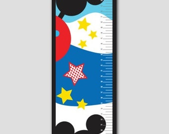 Mickey Mouse Clubhouse Growth Chart Premium Poster Paper