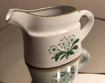 Vintage Stoneware, Noritake Gravy Boat, Mountain Flowers Pattern, Made in Japan