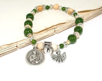 Saint Cecilia Bracelet, Patron Saint of Musicians and Church Music