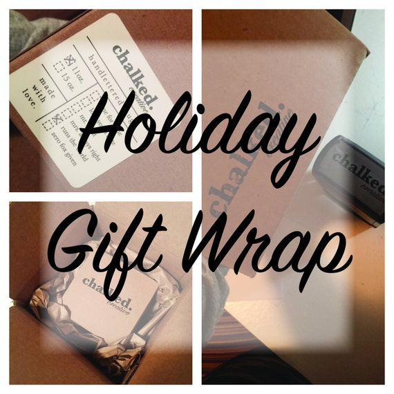 ADD-ON ITEM! Holiday Gift Wrap for your product ordered from ChalkedHandlettered, Holidays, gifts, great gifts, easy