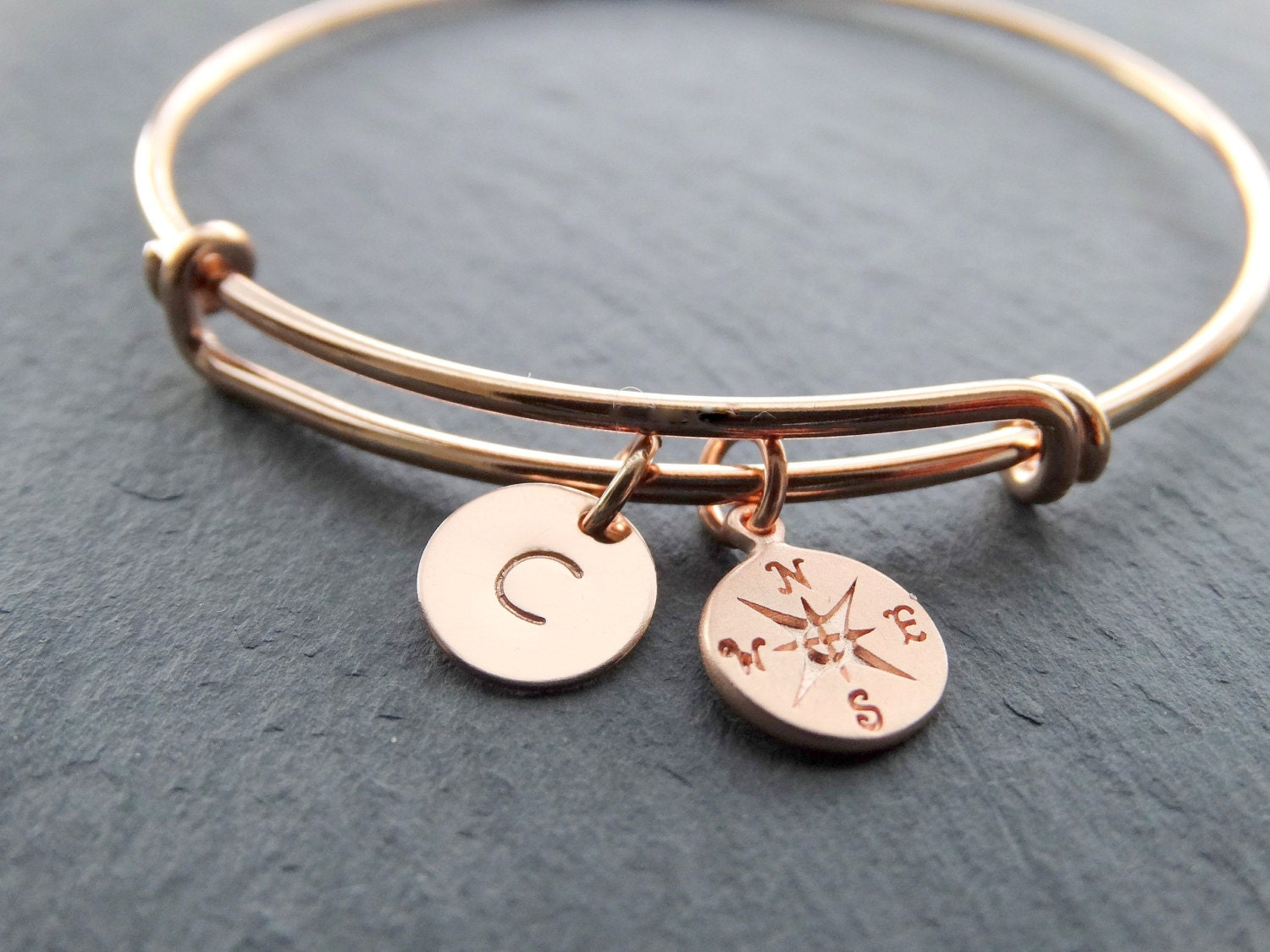gold bracelet pink product lyst normal gallery logo jewelry charm fulton bangle kors braceletrose rose bangles goldtone michael
