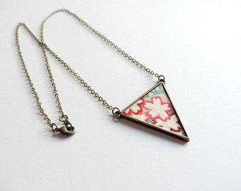 Necklace - Waltz the chance (washi flowers)