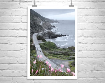 Pacific Coast Highway 1 California Art, Big Sur Road Trip, California Coast Highway, Big Sur Photo, California Seashore Art, Big Sur Gift