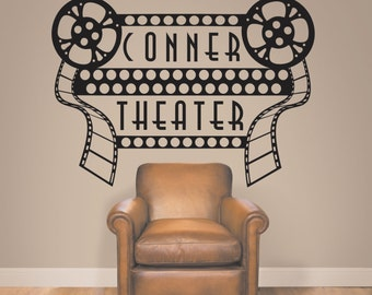 Home Theater Decor, Home Theater Sign, Movie Theater Decor, Home Theater  Decor,