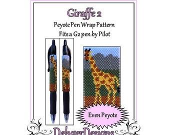 Peyote Beading Pattern (Pen Wrap/Cover)-Giraffe 2