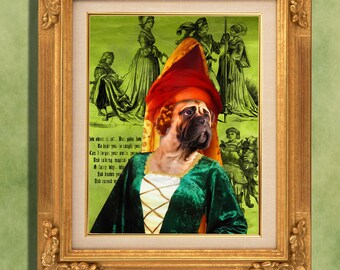 Bullmastiff Print Art Print 11 x 14 inch original illustration artwork giclee archival premium poster print