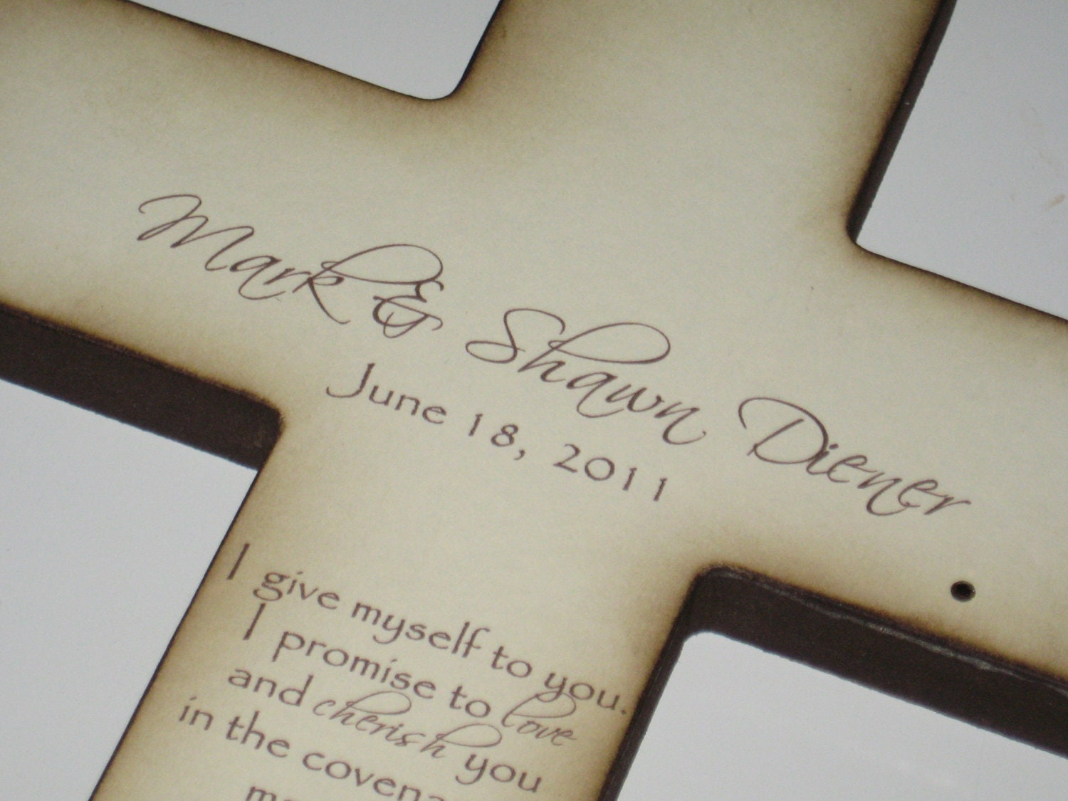 Personalized Christian Wedding Cross Gift for Bride and