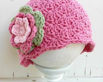 Crochet Hat Pattern - Shell Stitch Cap Crochet Pattern No.113 Digital Download PDF English