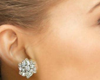 SALE Crystal wedding earrings, Bridal Jewelry, Bridesmaids Earrings, Stud Earrings, Bridesmaids Gift, Crystal Post Earrings, Silver crystal