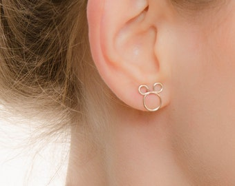 MOTHER DAY SALE - Mickey Mouse Studs - Mickey Stud Earrings  - Mouse Earrings - Mickey Studs - Disney Jewelry - Disney Earrings