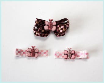 Butterfly Hair Clip Set of 3