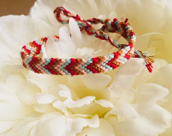 Colorful handmade friendship bracelet