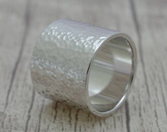 Silver ring 15 mm wide