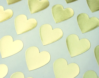 Metallic Gold Heart Stickers - Envelope Seals
