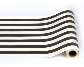 """Paper Table Runner Roll 20"""" by 25' - Classic Black and White Pattern"""