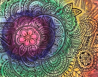 Rainbow Zentangle