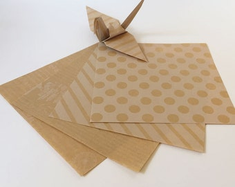 Origami Paper Sheets - Kraft Origami Paper - 100 Sheets