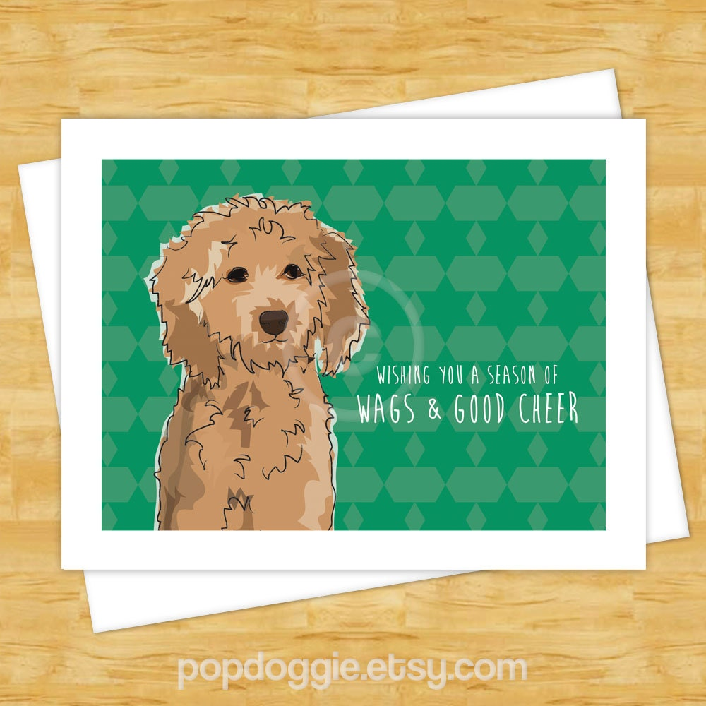 Dog christmas cards goldendoodle wishing you a season of zoom kristyandbryce Image collections