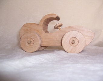 Toy Car Created from Recycled Alder Wood for the Kids