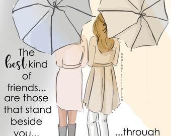Friendship Cards - The Best Kind of Friends - Cards for Friends - Art for Women -Friendship Quotes  Art for Women - Inspirational Art